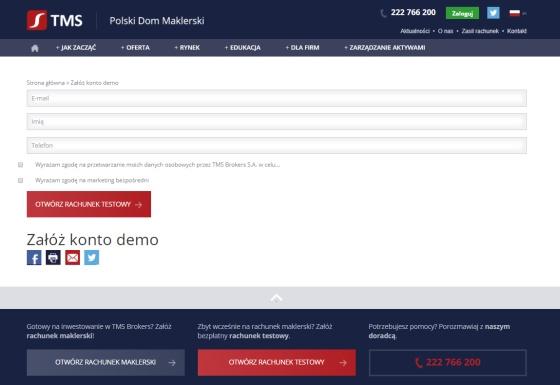 Konto forex demo w TMS