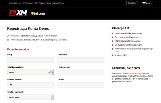 Konto forex demo w XM