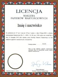 Licencja maklera giełdowego