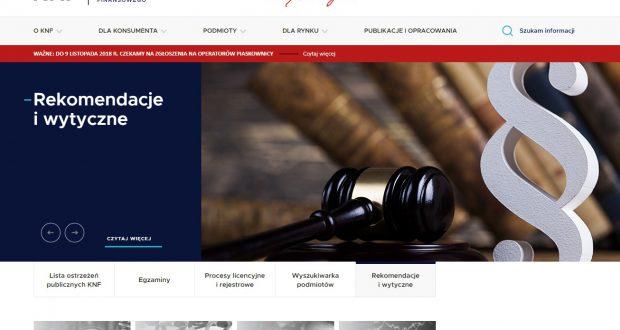 KNF - Komisja Nadzoru Finansowego
